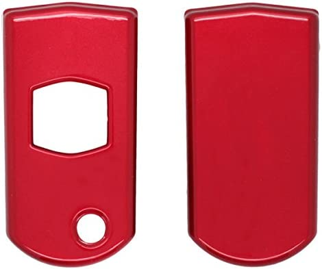 SEGADEN Paint Metallic Color Shell Cover Hard Case Holder fit for MAZDA Smart Remote Key Fob SV0531 Red