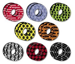 Factory Effex Grip Donuts (Factory Effex Moto Grip Donuts - Honda Red)