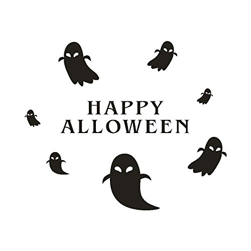 Decor Clearance KIKOY Happy Halloween Pumpkin Bone Wall Sticker Window Home Decoration Decal ()