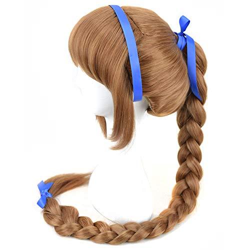 Yuehong Fairies Cosplay Wig Brown Long Braid Anime