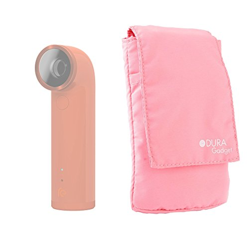 DURAGADGET Light Pink Cushioned Lightweight Action Camera Cover/Case for HTC RE Camera