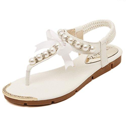 Donalworld - Sandalias de vestir para mujer Blanco - blanco