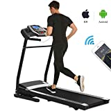 Miageek Fitness Folding Electric Jogging Treadmill with Smartphone APP Control, Walking Running Exercise