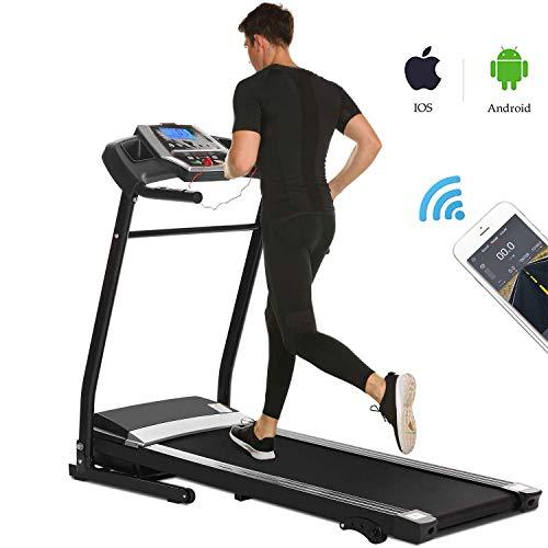 Miageek Fitness Folding Electric Jogging Treadmill with Smartphone APP Control, Walking Running...