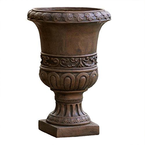 Noble House Roman Turkish 26-inch Urn Planter, Brown Noble House Roman Turkish 26-inch Urn Planter, Brown