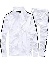 Men's Athletic Full Zip Running Tracksuit Sports Set Casual Sweat Suit