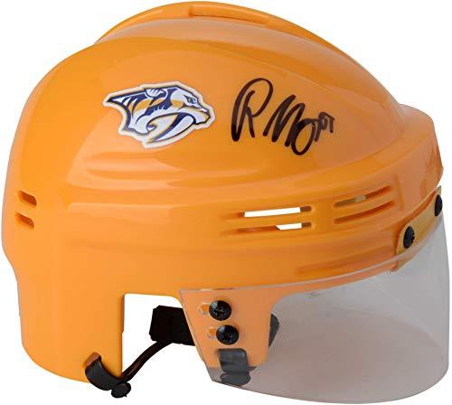 Roman Josi Nashville Predators Autographed Gold Mini Helmet - Fanatics Authentic Certified - Autographed NHL Mini Helmets