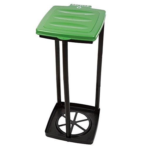 Portable Trash Bag Holder- Collapsible Trashcan for Garbage and Indoor / Outdoor Use By Wakeman Outdoors -Ideal for Camping Recycling and more (Green)