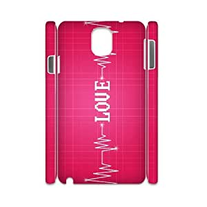 YNFYC Love Pink2 Phone 3D Case For Samsung Galaxy note 3 N9000 [Pattern-1]