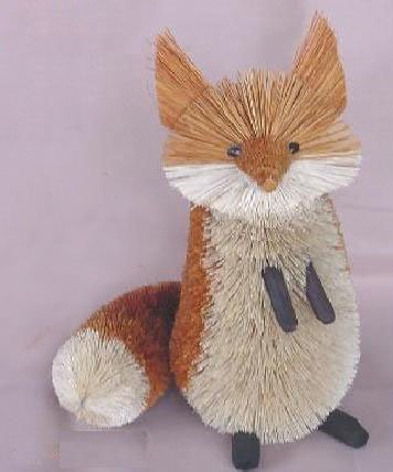 Christmas Tablescape Decor - Large Buri Brush Fox by Brushart