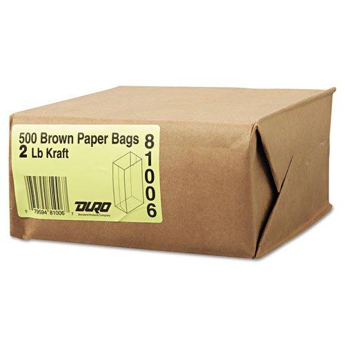 General - 2# Paper Bag, 30lb Kraft, Brown, 4 5/16 x 2 7/16 x 7 7/8, 500/Pack GK2500 (DMi PK