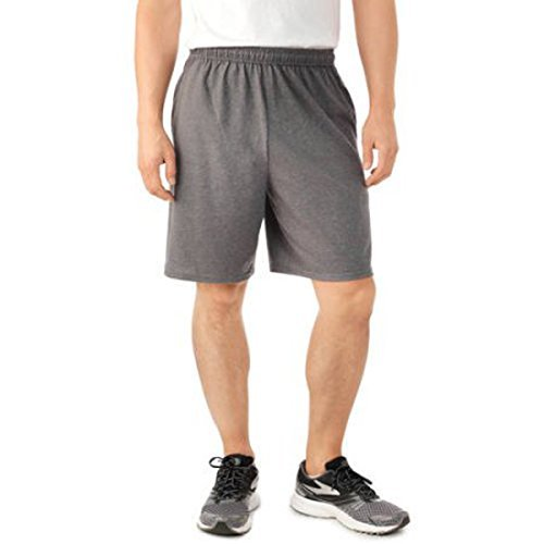 Fruit of the Loom Men's Jersey Short with Side Pockets (Medium, Charcoal Heather) by Fruit of the Loom (Image #1)