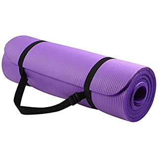 BalanceFrom BFGY-AP6PP Go Yoga All Purpose Anti-Tear Exercise Yoga Mat with Carrying Strap, Purple, One Size