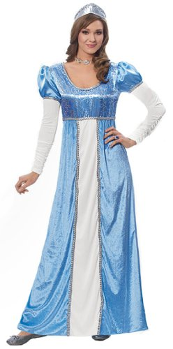 Costume Culture by Franco LLC Womens Medieval Blue Princess Halloween Costume, -
