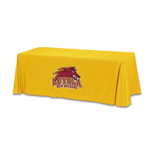 Loyola New Orleans Gold 6 foot Table Throw 'Official Logo' by CollegeFanGear