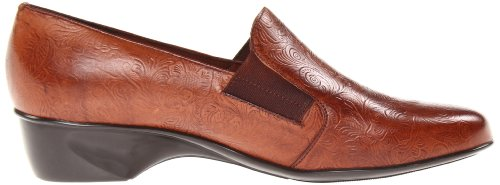 Walking Cradles Teri plana de la mujer Brown Croc Patent