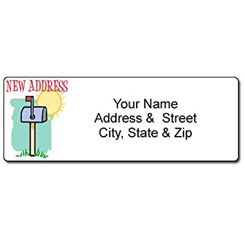 Amazon.Com : New Address Mailbox Label - Customized Return Address