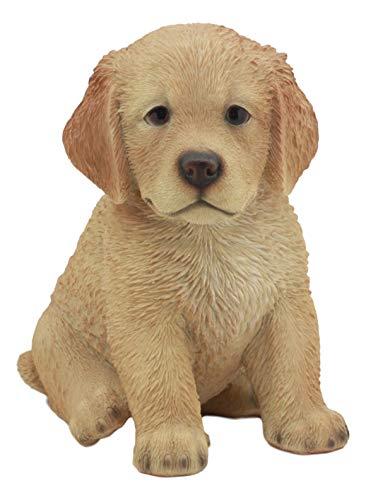 Ebros Realistic Lifelike Fawn Golden Retriever Figurine 6.5