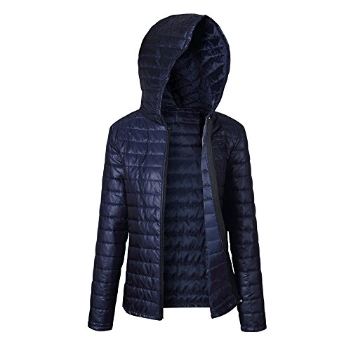 (HOSOME Women Jacket Ultra Light Down Top Navy)