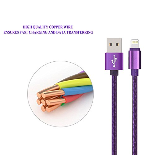 Buy iphone 6ft charger purple