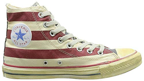 Stars amp;bars Unisex Zapatillas Graphics Star All Hi Distressed Converse 6xqY7UC