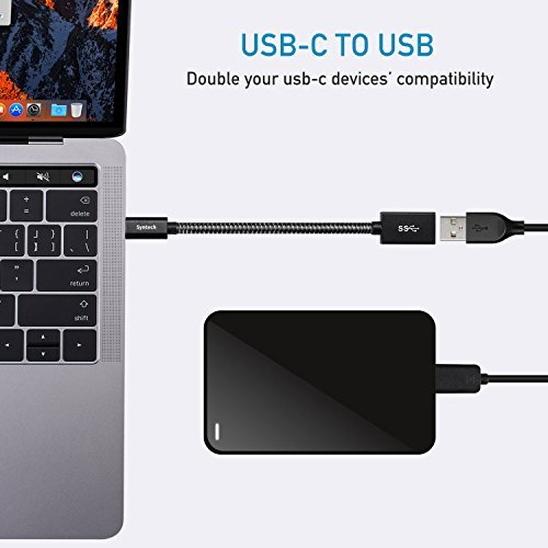 Syntech USB C to USB Adapter, (2 Pack) USB-C to USB 3.0 Adapter,USB Type-C to USB,Thunderbolt 3 to USB Female Adapter OTG Cable Compatible with MacBook Pro 2018/2017, MacBook Air 2018 and More