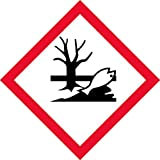 "OSHA Compliant, GHS Environment Pictogram, Environmental, Red Border, Black Symbol, Picto, White Base, Laminated, Safety Decal Label Vinyl Sticker, (4"" x 4"" (5 per))"
