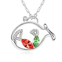 Dancing ZoneJewellery The Beat Gift Rhinestone Silver Plated Crystal Trendy Jewelry Necklace - G