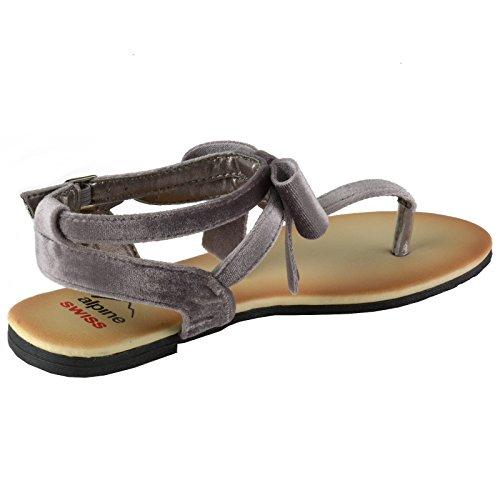 ... Sandali Con Fiocco In Velluto Da Donna Svizzero Alpino Sandali Con  Tacco A Strappo Per Gladiatore cc61b8dc94c