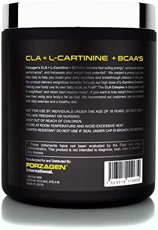Forzagen Cla + L Carnitine + Bcaa Powder - Bcaas Amino Acids with Cla Powder Increase Energy Free Caffeine Pre Workout   60 Servings   Keto Burn   Premium Cla Supplements (Cherry Cola) 3