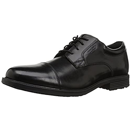 Rockport Men's Essential Details Water Proof Cap Toe Oxford,Black,10.5 W US