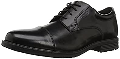 Rockport Men's Essential Details Water Proof Cap Toe Oxford,Black,6.5 W US