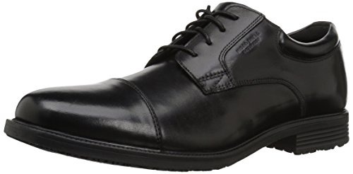 Rockport Men's Essential Details Water Proof Cap Toe Oxford-Black-10 M