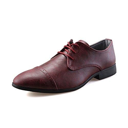 La Du De Oxford Chaussures Hommes Habillées Wersatile Taille Homme Et 2018 Marque Richelieus Marron Xiaojuan color Fashion Simples 39 Pour Vin shoes Légères Casual Eu x85vg5w0q