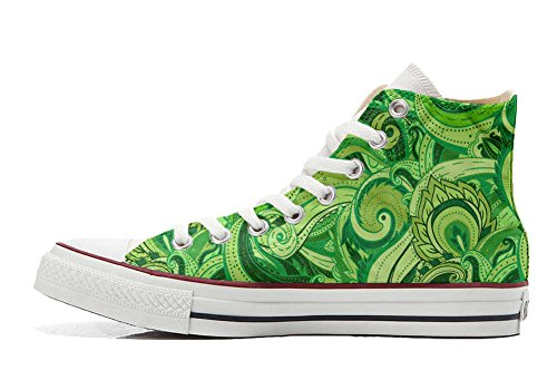 Converse All Star Hi chaussures coutume mixte adulte (produit artisanal) Abstract