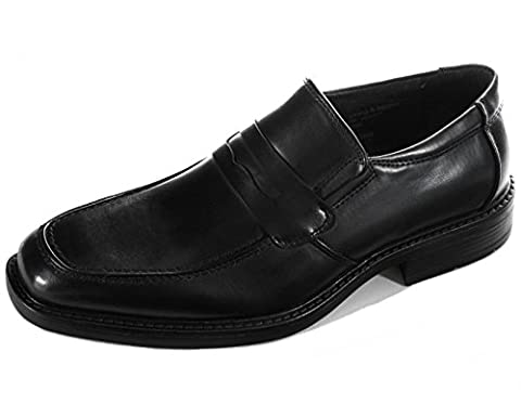 Alpine Swiss Mens Rhine Penny Loafers Suede Lined Slip On Shoes Black 10 M US (Swiss Mens Classic)