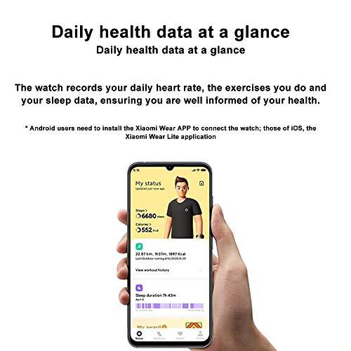 Xiaomi Mi Watch Lite – Relógio inteligente preto, rastreador de atividades com monitor de frequência cardíaca, monitor…