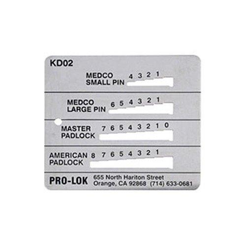 Pro-Lok Key Decoder - Medeco, Master & American ()