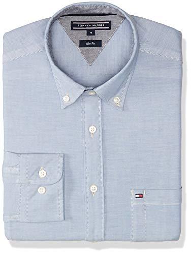 Tommy Hilfiger MW0MW05948 Camiseta para Hombre, Dutch Blue, Extra Grande