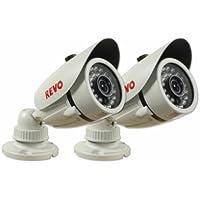 Revo America RCBS30-4BNDL2N 1200 TVL Indoor/Outdoor Bullet Surveillance Camera With 100 ft. Night Vision & BNC Conversion Kit