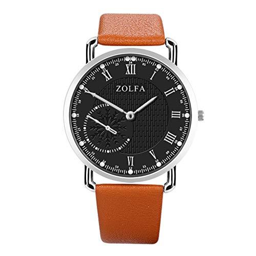 2019 Summer Deals ! ZOLFA Sleek Minimalist Roman Double Scale Snowflake Belt Men's Quartz Watch Wrist Watch for Men Under 10