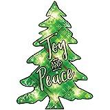 Joy & Peace Tree CHristmas Shimmer Lighted Window Decoration Tree