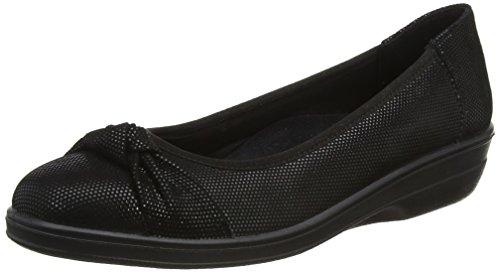 Tacón Fiona Mujer black Padders Con Zapatos De Black Reptile Punta Cerrada qPntnF