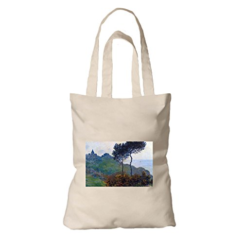 Church At Varengeville (Monet) Organic Cotton Canvas Tote Bag by Style in Print
