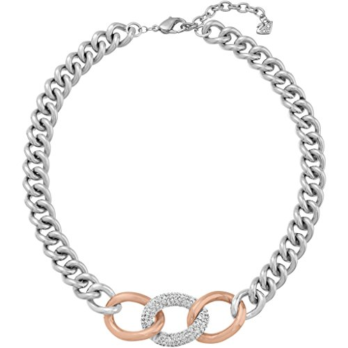 Swarovski Crystal Bound Plated Chunky Chain Necklace