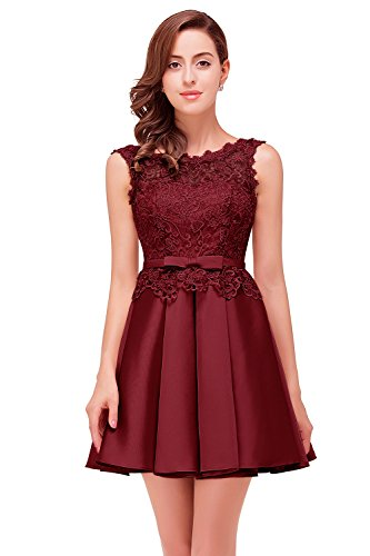 Princess Dresses For Teenagers (Babyonline Retro Lace satin Empire princess teen cocktail dress,,Burgundy,16)