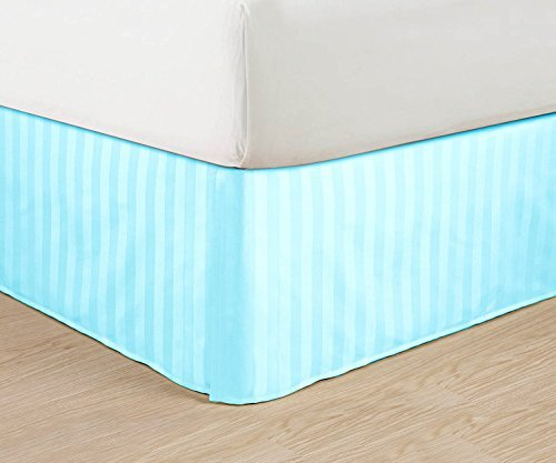 Wrinkle Free - Egyptian Quality Stripe Bed Skirt - Pleated Tailored 14