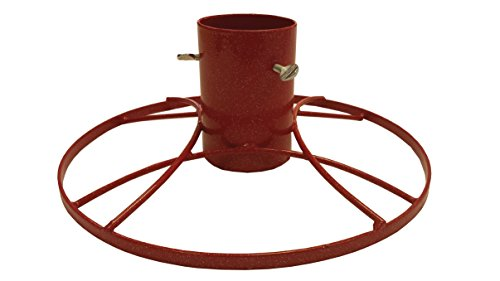 Bosmere 5-inch Contemporary Christmas Tree Stand with Red Sparkle by Bosmere (Image #1)
