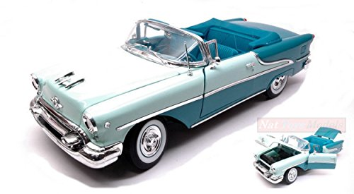 WELLY WE19869CG OLDSMOBILE SUPER 88 CABRIOLET 1955 LIGHT GREEEN/TOURQOISE 1:18