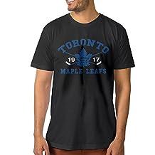 Candi Men's Toronto Maple Lea Tshirt Tees Vintage Casual Black